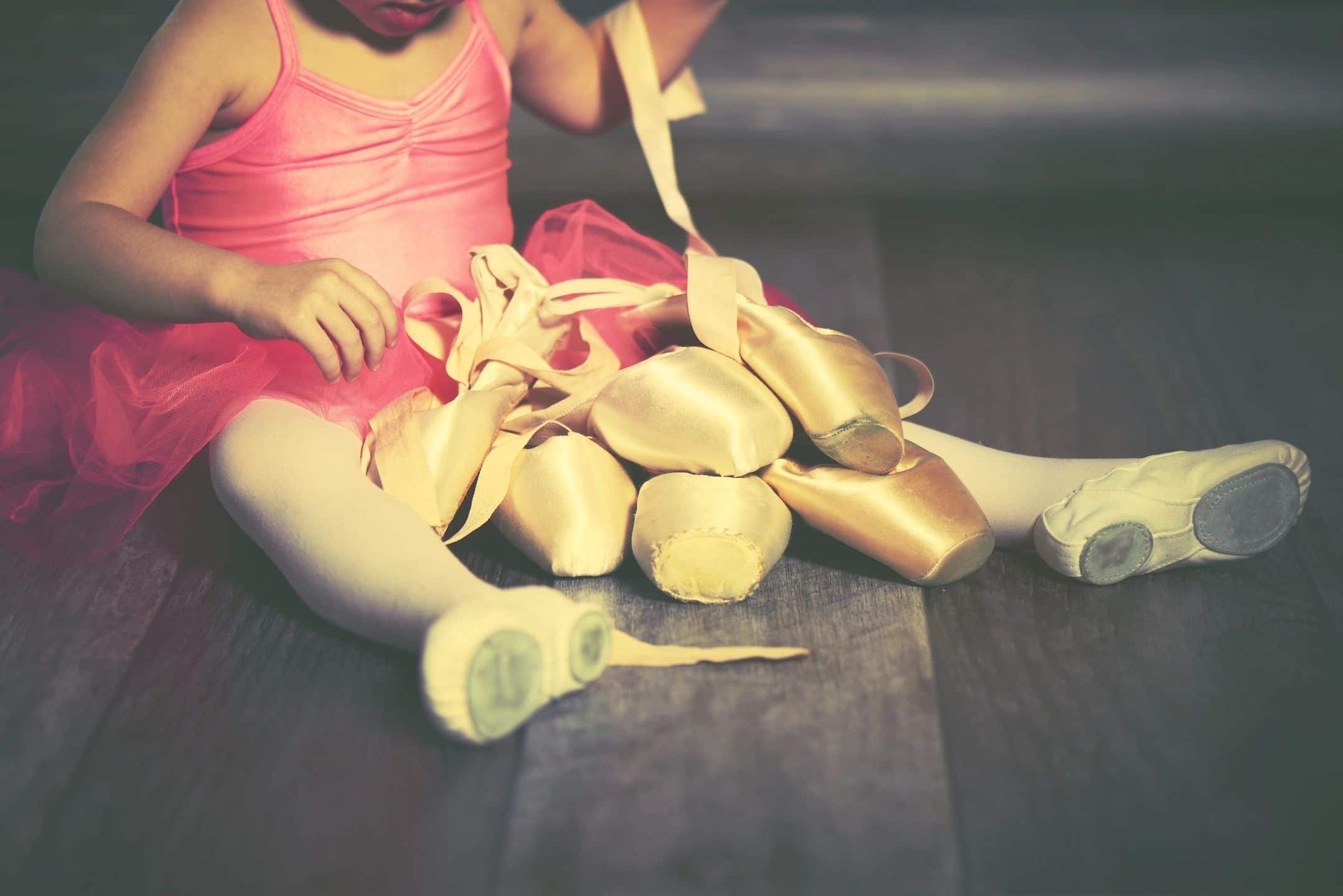 Young girl with ballerina shoes